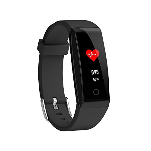 Fitness Tracker,YiMiky Fitness tracker Smart Bracelet,IP67 Waterproof Smart Wristband,Smart Watch Heart rate Female Physiological Reminder Watches for Android iOS Phone(Black)