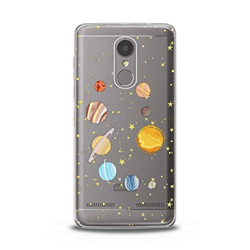 Lex Altern TPU Case for Lenovo Phone K8 Note K6 Note 2017 K5 Plus Z5 Parade of Planets Gift Earth Flexible Design Print Soft Solar System Cover Smooth Universe Slim fit Stars Clear Lightweight Sun]()