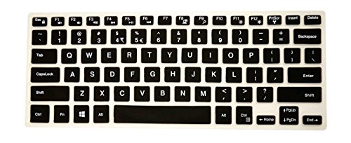 PcProfessional Black Ultra Thin Silicone Gel Keyboard Cover for Dell Inspiron 14 5000 Series 14
