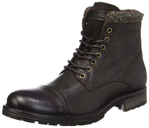 Bison amp; Clasicas Leather Jack Para Jones Hombre bison Jfwmarly Botas Negro nx1IYCYw