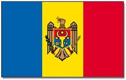 90 x 150 cm Sticker Gratuit Digni Drapeau R/épublique de Moldavie