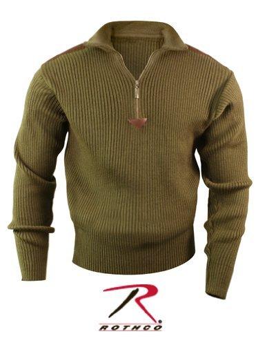 1/4 Jacket Reversible Zip (Rothco 1/4 Zip Acrylic Commando Sweater, Olive Drab, 2X)