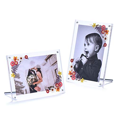 Phattopa 5x7 Acrylic Picture Frames Set Magnetic