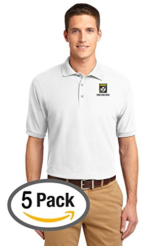 Custom Embroidered Port Authority Silk Touch Pique Polo – Pack of 5