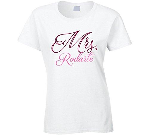 mrs-rodarte-last-name-funny-t-shirt-m-white