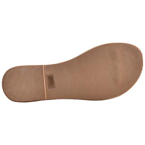 Boree Womens Summer Flat Flip Flops With Luminous Leather Belt Lightgreen mawCx