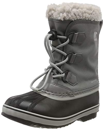Sorel - Youth Yoot Pac Nylon Winter Snow Boot for Kids, Quarry/Dove, 6 M US