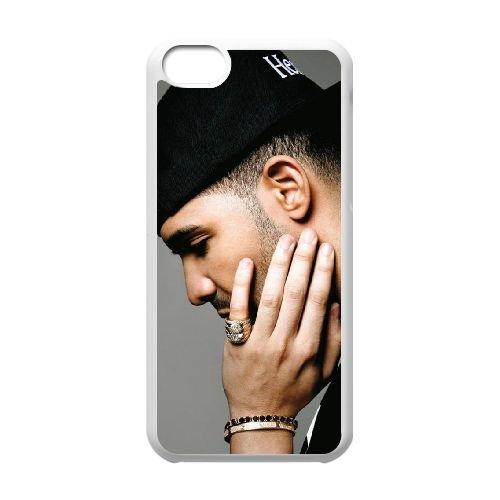 Drake 002 coque iPhone 5C Housse Blanc téléphone portable couverture de cas coque EOKXLLNCD18903