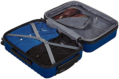 AmazonBasics Hardside Spinner Luggage - 20-Inch, Navy Blue