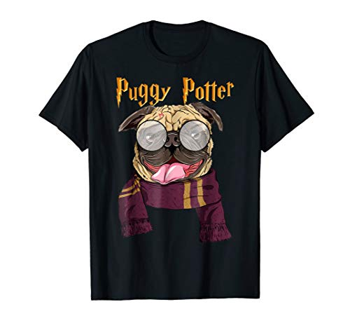 Puggy Potter Cute Dog Potter Pugs T-Shirt For Men -