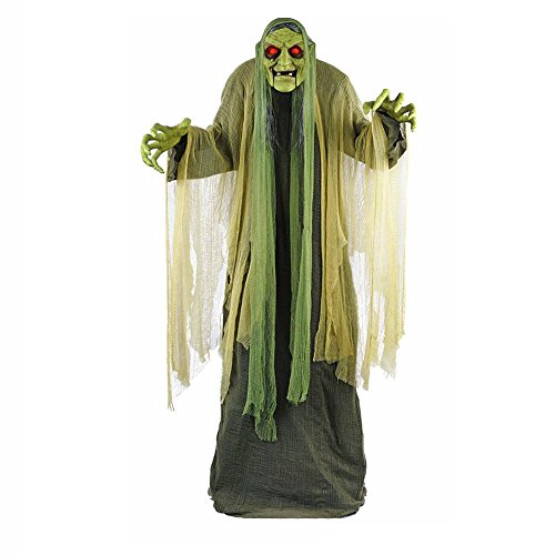 Life Size Halloween Figures (Life Size Animated Swamp Monster Prop Spooky Haunted Halloween Party Decoration)