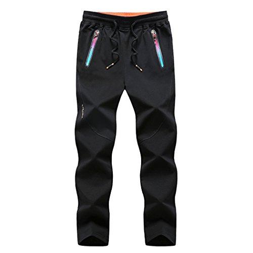 Modern Fantasy Mens Casual Jogger Drawstring Knits Elastic Pants Big Size US XS Black