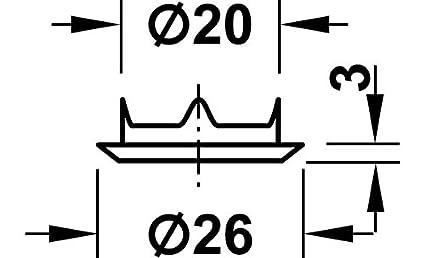24,5 mm Calidad marca su Sala estar GedoTec Cerradura de mueble rodillo obturador cerrado atornillable SET para Puertas correderas /& Persiana Acero cromado pulido corrediza mit Medida cierre
