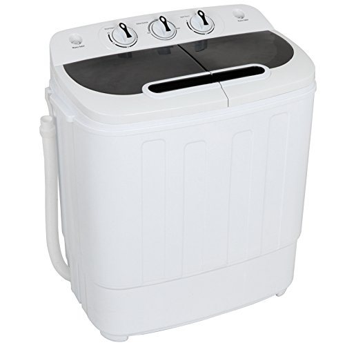 ZENY Portable Compact Mini Twin Tub Washing Machine 13lbs Capacity with Spin Dryer, Lightweight Small Laundry Washer for Apartments, Dorm Rooms,RV's