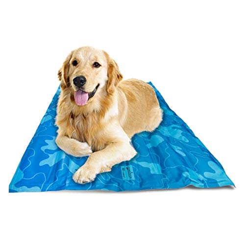 Greenbone Self Cooling Pet Mat for Floor Bed Crate Cool Dog Mat Gel Cushion Pad Indoor Or Outdoor