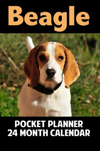 Beagle: Calendar 24-Month Pocket Planner - Watercolor Effect