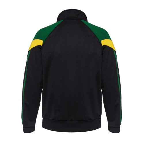 Rasta Reggae giacca della Giamaica Bandiera Africa cerniera tuta sportiva da uomo a maniche lunghe
