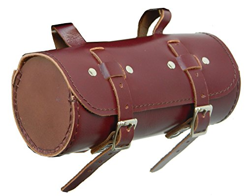 CALYX IN Genuine Leather Bicycle Saddle Round Bag Utility Tool Kit Chery (Best Retro Bikes In India)