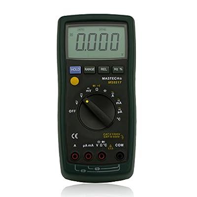 Mastech MS8217 Digital Multimeter AC/DC Voltage Current Resistance Capacitance Tester Temperature