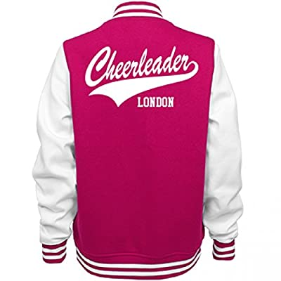 Cheerleader London: Ladies Fleece Letterman Varsity Jacket