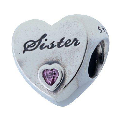 PANDORA 791946PCZ Sister's Love Charm