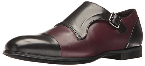 Bacco Bucci Men's Pinelli Slip-On Loafer, Black/Burgundy, 8 D US