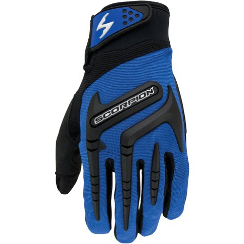 Scorpion Skrub Men's Textile Street Bike Racing Motorcycle Gloves - Blue / Small