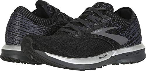 Brooks Women's Ricochet Black/Black/Ebony 8.5 B US