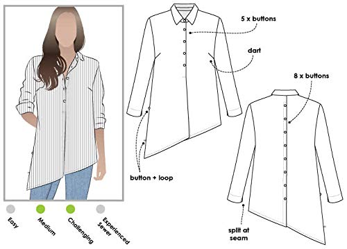 Style Arc Sewing Pattern - Crystal Overshirt (Sizes 04-16) - Click for Other Sizes Available
