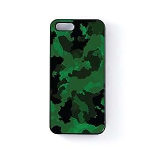 Digital Camo Green Carcasa Protectora Snap-On en Plastico Negro para Apple® iPhone 5 / 5s de Gadget Glamour + Se incluye un protector de pantalla transparente GRATIS
