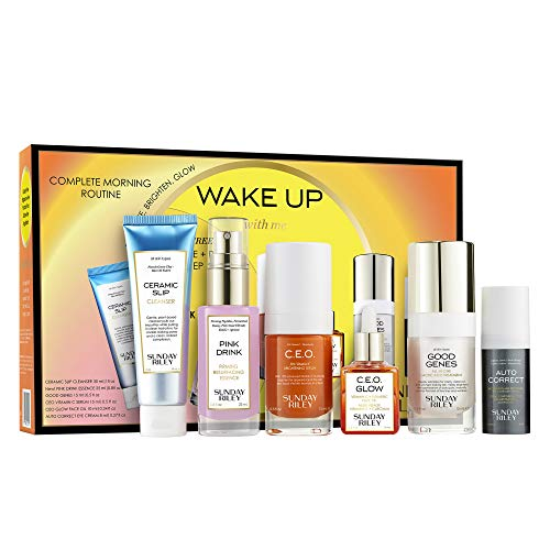 Sunday Riley Wake Up With Me Complete Brightening Morning Routine Kit, 1 ct.