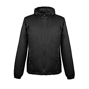 iLoveSIA Men's Lightweight Rain Jacket with Hood Raincoat Outdoor Windbreaker