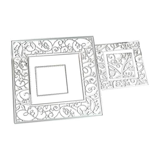 yangerous New Carbon Steel Cartoon Vine Lace Card Cutting Die Embossing Stencil Template Mold DIY Paper Art Craft Scrapbook Bookmark Decor