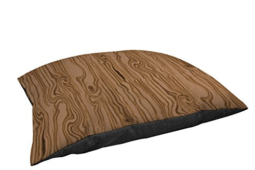 Thumbprintz Indoor/Outdoor Large Breed Pet Bed, Wood Grain Large Scale Light Brown