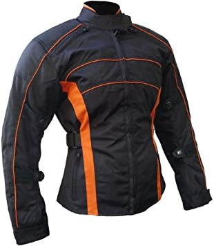 Motorradjacke orange