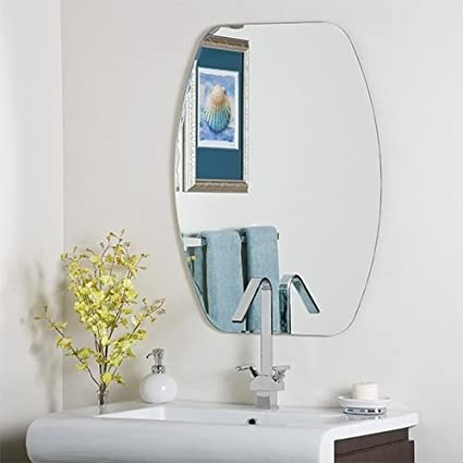 unframed throughout mirrors mounted x wall frameless mirror bathrooms realie with bathroom sizing design