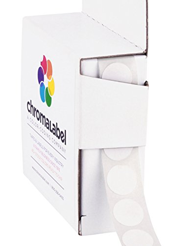 1/2 inch Color-Code Dot Labels | 1,000/Dispenser Box (White)