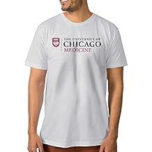 Fashion Men's The University Of Chicago Medicine Tees White Size L