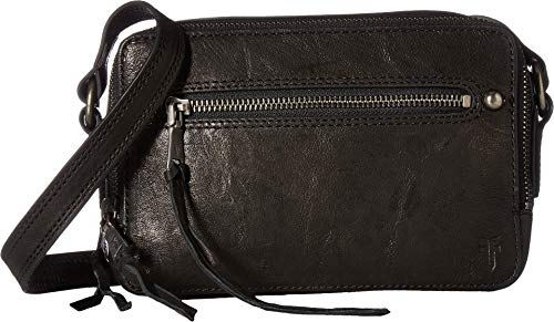 (FRYE Leather Zip Camera Crossbody Bag,)