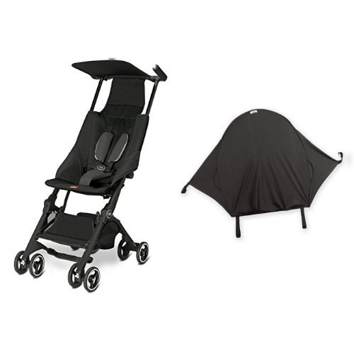 gb Pockit Stroller, Monument Black & Summer Infant Rayshade Stroller Cover by