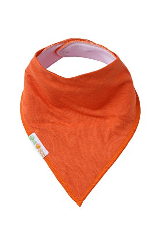 Baby Bandana Drool Bibs,Set of 6 Extra Large Solid Color Bibs,Made with Organic Cotton, Super Absorbent,Adjustable Snaps,Toddler Baby Bibs for Drooling,Teething and Feeding by Bum Chicoo (Image #7)