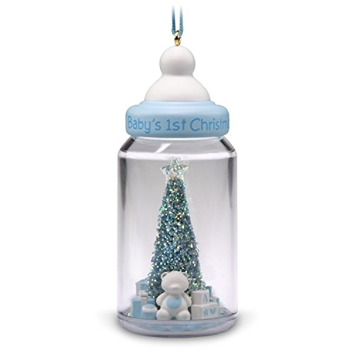 Hallmark Keepsake Christmas Ornament 2018 Year Dated, Baby Boy's First Christmas Baby Bottle Baby Boy Christmas Ornament