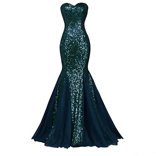 Dunkelgrün Pailletten Damen Sweetheart Abendkleid emmani Meerjungfrau q7Bw6RqXn