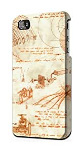 S0566 Technical Drawing Da Vinci Case Cover for Iphone 4 4s