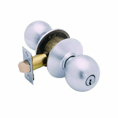 (SCHLAGE LOCK CO F51ORB626 Entry Lockset, Chrome)