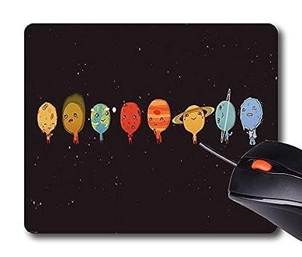 Yanteng Alfombrilla de ráton System Planets, Alfombrillas de ratón Personalizadas Alfombrilla de ráton Custom Design Rectangle de diseño Gracioso ...