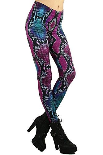 World of Leggings Colored Snakeskin Leggings