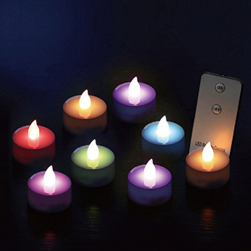 10 piece Set Flickering Flameless LED Tea
