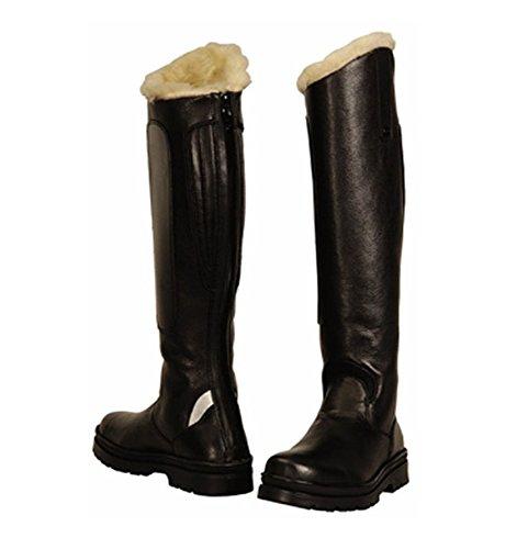 cuir synthétique pour polaire en TuffRider avec haut Tundra bottes femmes doublure noir xqOvzZ