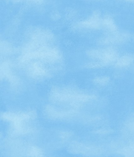 - York Wallcoverings Disney Kids Clouds Removable Wallpaper, Blue